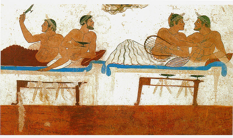 File:WallPaintingTomb Paestum Italy GreekColony sm.jpg